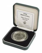 1998 Silver Proof Britannia Single With Certificate
